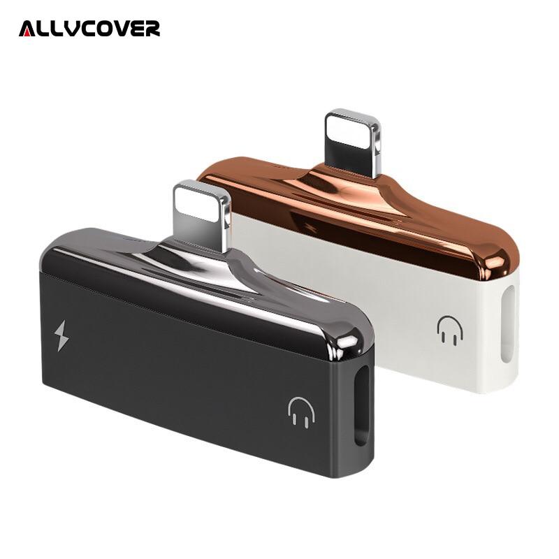 Allvcover 2 en 1 cargador adaptador para iPhone X 7 8 más divisor de carga para Lightning adaptador para iPhone 7 adaptador de auriculares
