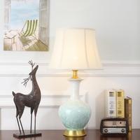 Туда 36X56 см Бесплатная доставка Китайский Стиль Керамика Настольная лампа для Гостиная Спальня украшения современный Дизайн светодиодный