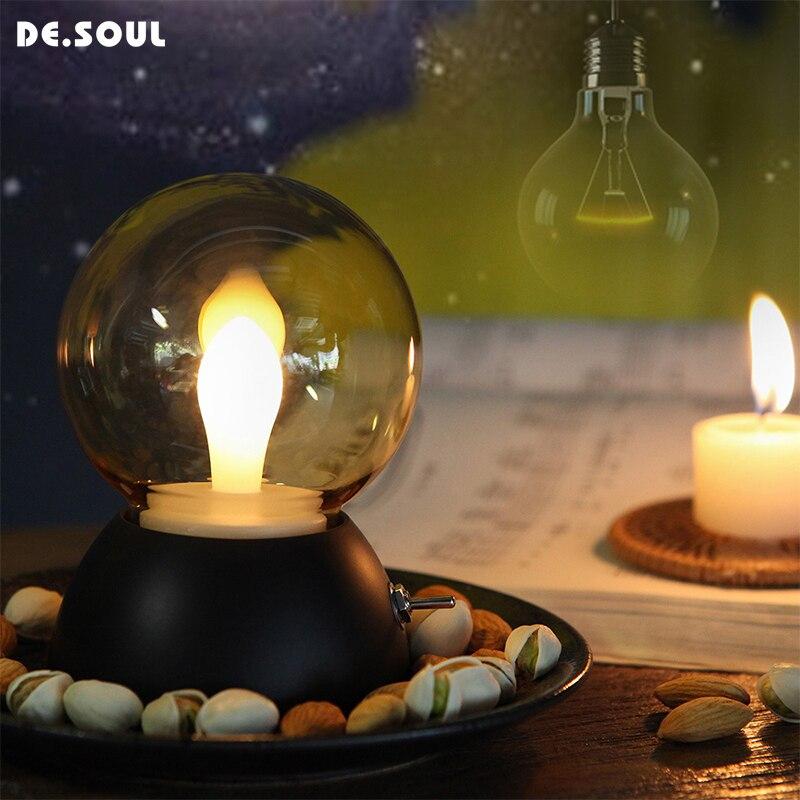 soul night lights led vlam lampen oplaadbare lampen verlichting slaapkamer nachtlampje kleur veranderen nacht lampen gif prijs