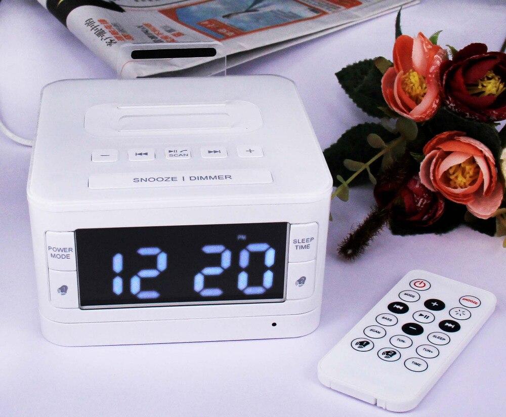 цена на Cyboris K7 New Bluetooth Speaker Dock station for Apple charge for ipod dock clock radio FM Alarm Clock