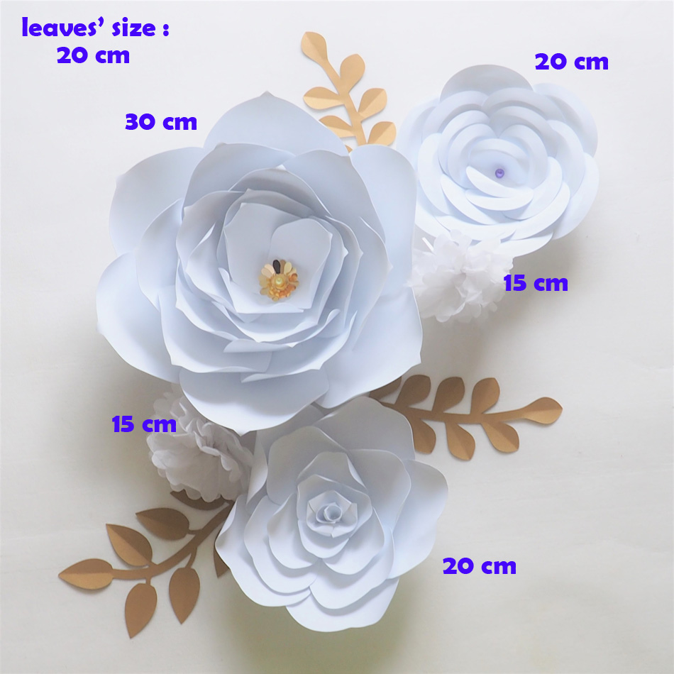 Giant Paper Flowers Backdrop Artificial Handmade Crepe Paper Flower