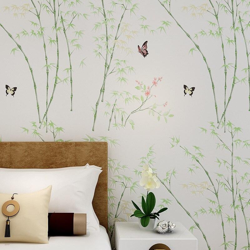 Beibehang papel de parede chaud pastorale bambou bambou papier peint chambre Nonwovens papier peint salon TV toile de fond