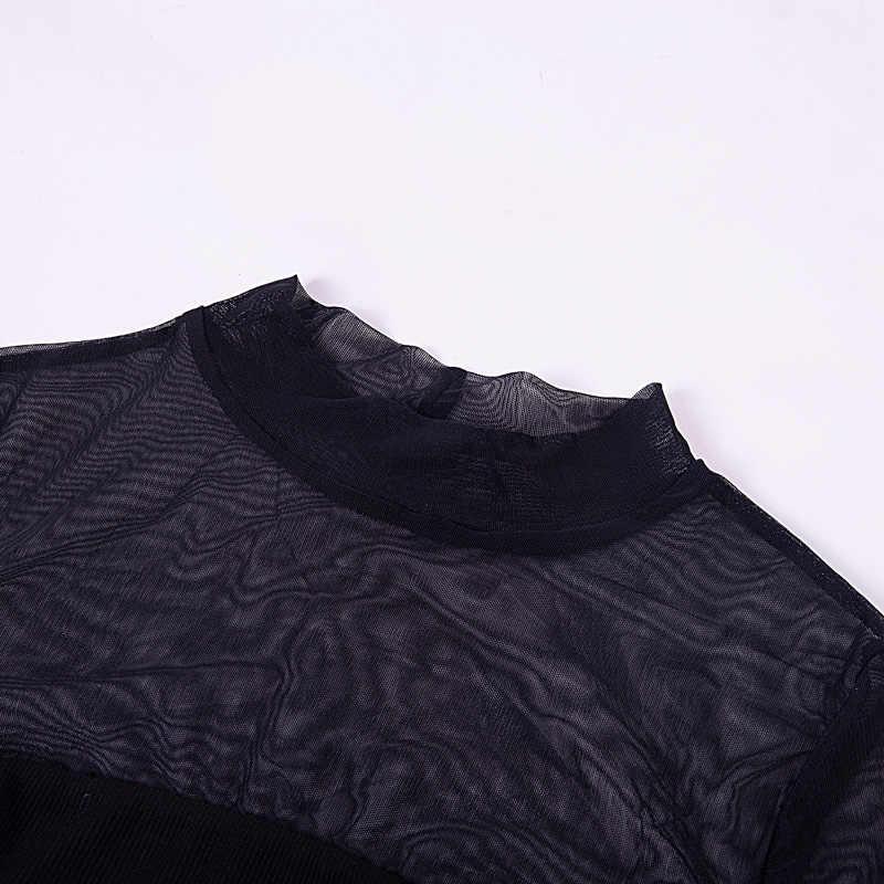 InstaHot трикотажные пикантные прозрачные сетки Корректирующие боди для женщин для макет средства ухода за кожей Шеи осень 2018 г. пряжа