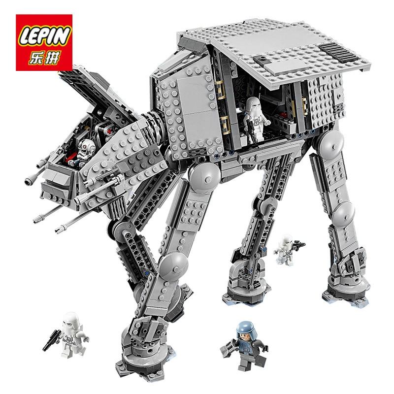 Lepin 05051 Star Series Wars Force Awaken AT-AT Transportation Armored Robot Children Building Blocks Bricks 75054 Toys for boys urban transportation sections at minus