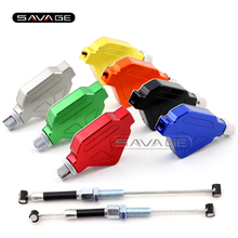 цены For KAWASAKI Z800 2013-2016 14 15 Motorcycle Accessories CNC Aluminum Stunt Clutch Lever Easy Pull Cable System NEW 7 colors