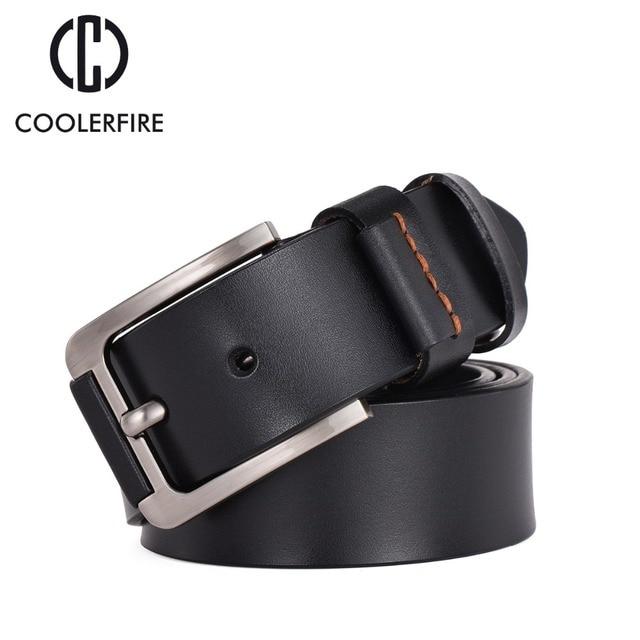 a38a57419 Hot cuero Genuino cinturón hombre cinturones de Lujo De los hombres de los  hombres Anchos pantalones