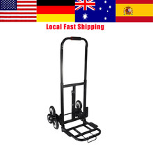 Solid Rubber Tires Stair Climbing Truck Stair Climber Hand Truck 440LBS Barrow Handtruck Bracket Roll Cart Trolley High Quality(China)