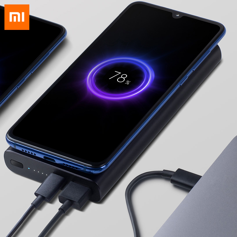 Original Xiaomi Wireless 10000mah Power Bank USB Type C Mi Powerbank Qi Fast Wireless Charger Portable