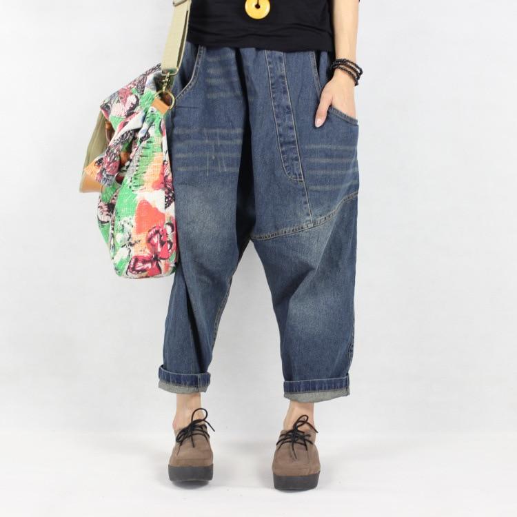 7455f130e9203 Palazzo Capri Baggy Hip Hop Boho Sweat Embroidery Sweatpants Vaqueros Mujer  Broek Vrouwen Warm Jeans Pants for Women Trousers