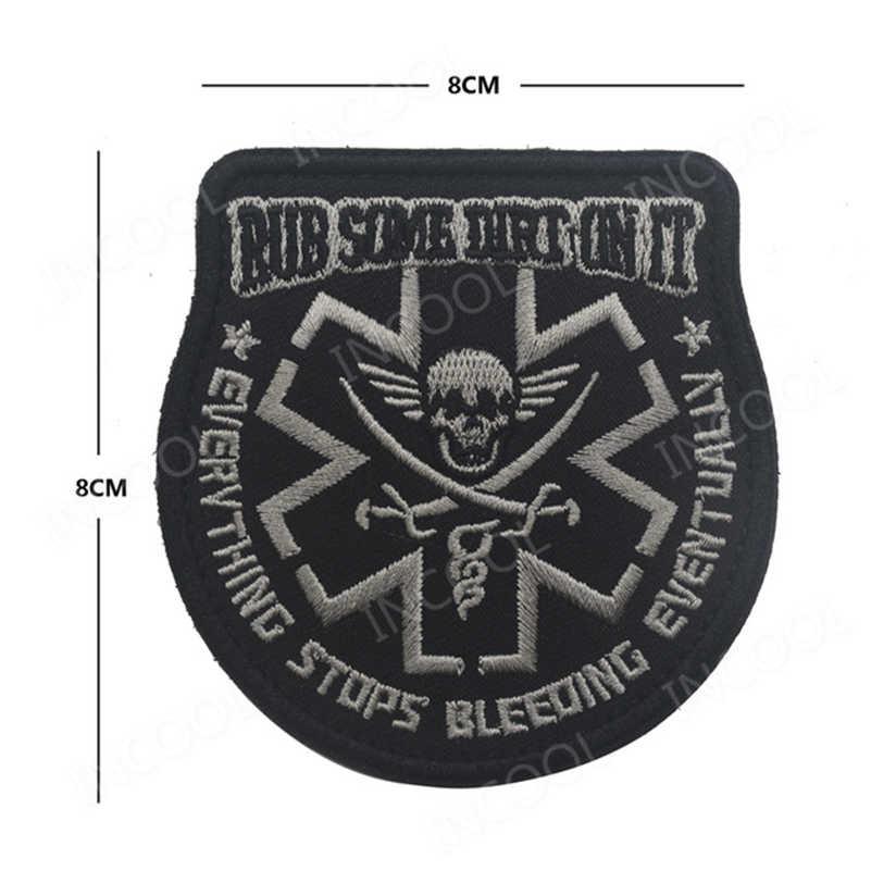 Patch de police de la marque Paramedic Glow in The Dark Rubber