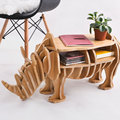 FREE SHIPPING Factory wholesale European Arts Crafts Home Decoration wooden rhino simulation wood furniture coffee table desk