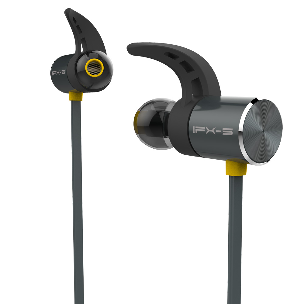 Plextone BX343 Waterproof Bluetooth Earphone Metal Magnetic Wireless Sport Headset Handsfree Bass Earbuds with Mic for IPhone LG
