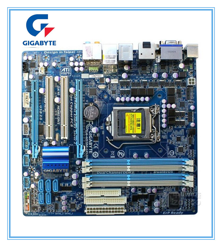 original gigabyte motherboard GA-H55M-UD2H 1156 DDR3 H55M-UD2H 16GB support I3 I5 I7 desktop motherboard mainboard intex матрас кровать twin prestige downy с внешним насосом