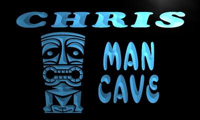 x0093-tm Chris Man Cave Tiki Bar Custom Personalized Name Neon Sign Wholesale Dropshipping On/Off Switch 7 Colors DHL