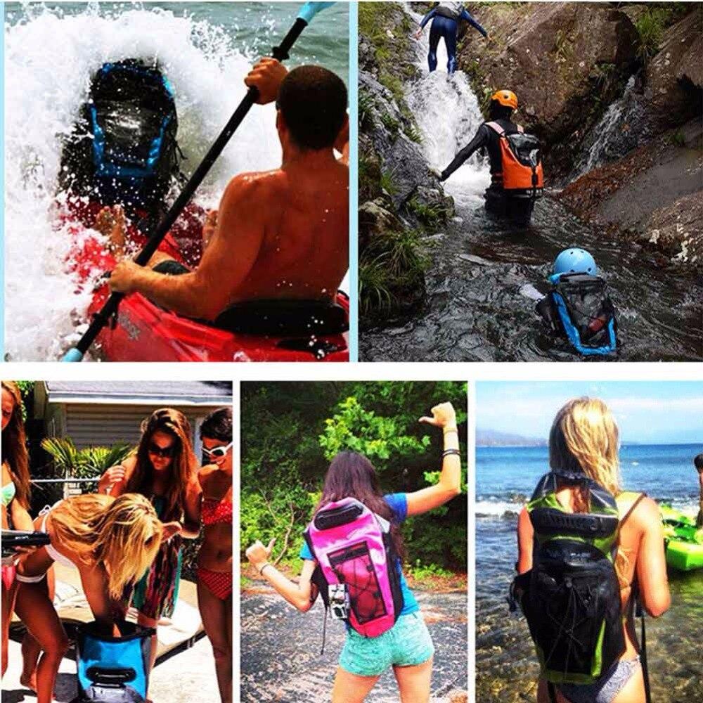 Sac à dos étanche 30L sac de natation sac à bandoulière réglable sac à bandoulière flottant pour la voile - 6