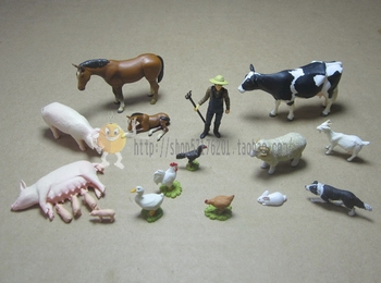 mini pvc  figure  farm Scene  set