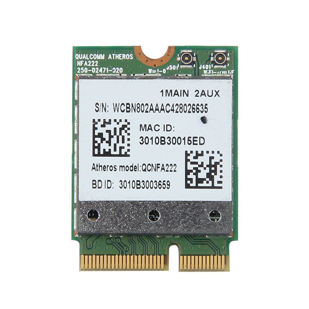 Dual Band 300Mbps Atheros QCNFA222 AR5BWB222 Wireless NGFF WiFi Network Wlan Card Bluetooth 4.0 802.11abgn for Laptop