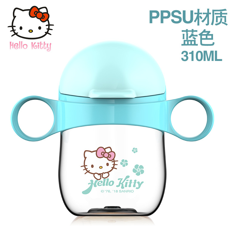 Disney 6-18 month baby Cartoon Feeding Bottle Water PPSU Cup for Babies Drinking Learner Bottle High temperature resistance