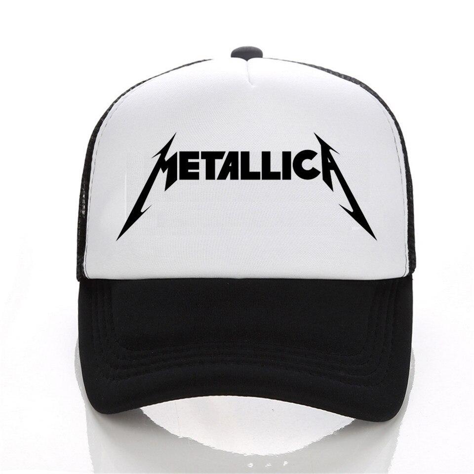 Metallica logo moda gorra de béisbol hombres y mujeres hip-hop del ...