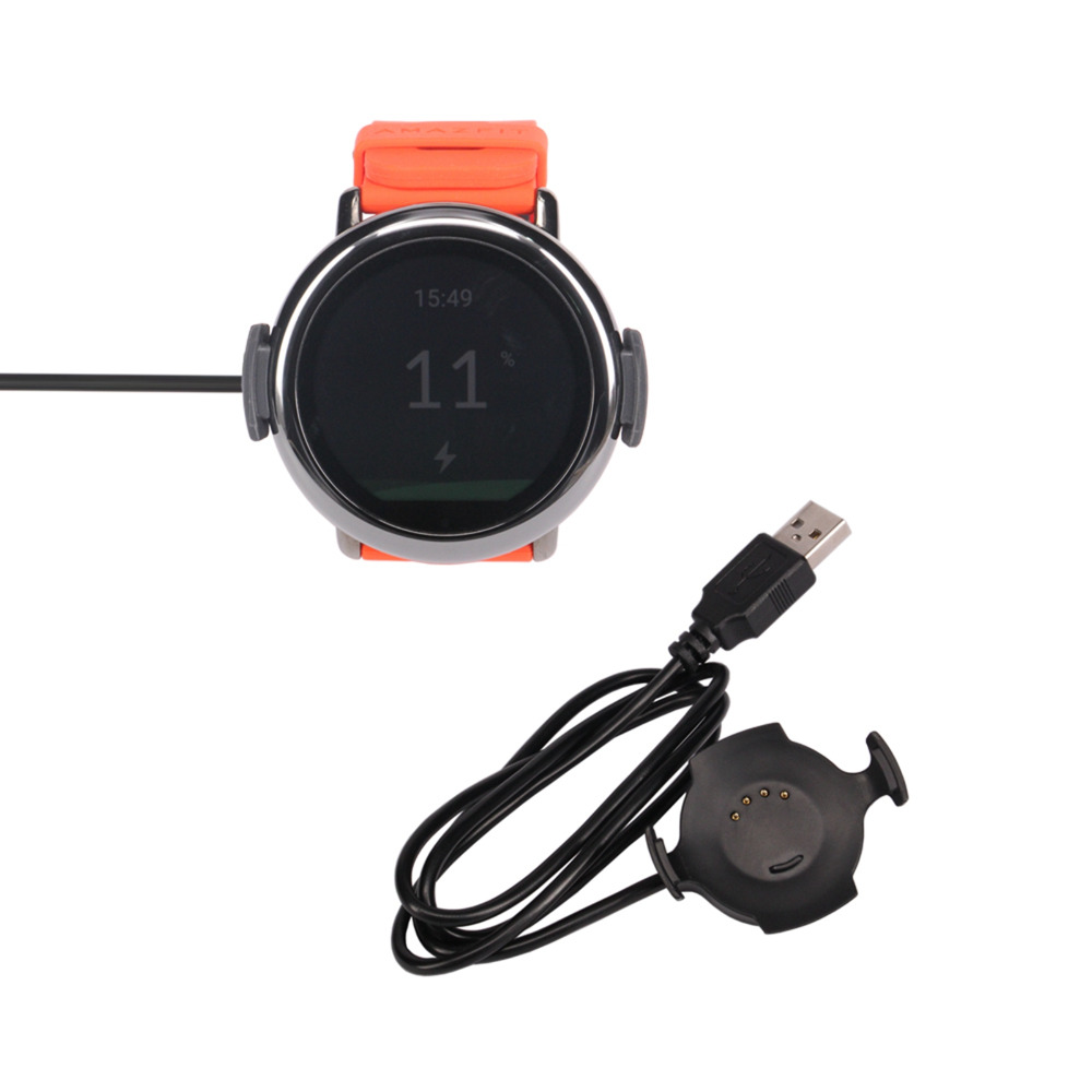 MASiKEN Replacement USB <font><b>Charging</b></font> Cradle Dock Charger Cable Holder for Xiaomi <font><b>Huami</b></font> <font><b>AMAZFIT</b></font> Pace Sports Smart Watch <font><b>Charging</b></font> image