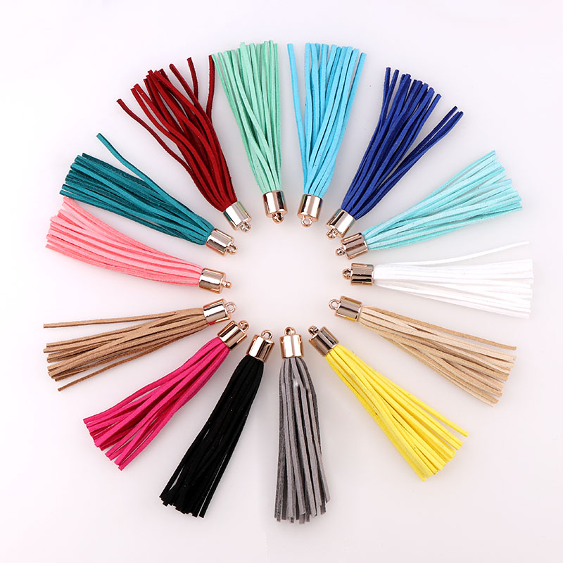 PAMIR TONG 30pcs//lot Leather Tassel Cell Phone Straps DIY Earring//Necklace Charm
