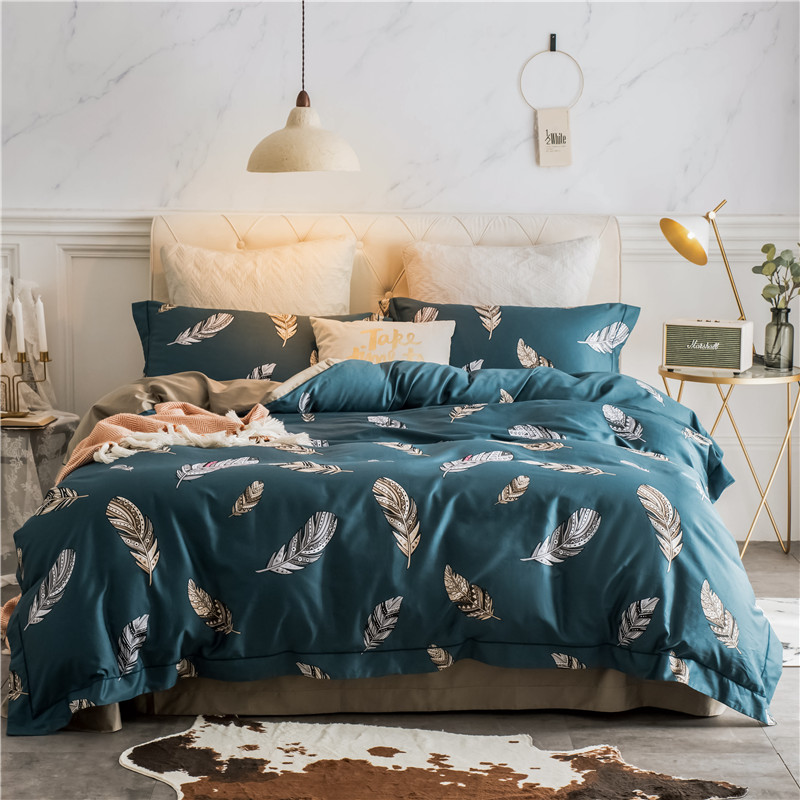 Luxury <font><b>Egyptian</b></font> <font><b>Cotton</b></font> <font><b>Bedding</b></font> <font><b>Set</b></font> Queen King size Duvet Cover feather bed cover Bed/Flat Sheet Fit sheet <font><b>set</b></font> Pillowcases image