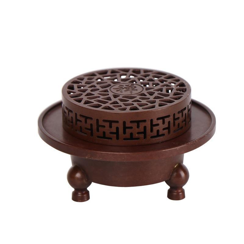 Creux Zen encens bâton bobine titulaire cuivre couleur plaqué bouddha encens cônes en céramique encensoir méditation maison décors ornements