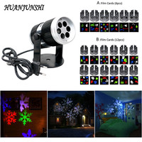 Waterproof Christmas Laser Snowflake Film Projector Lamp Outdoor Indoor LED Stage Lights Home Garden Holiday Decoration