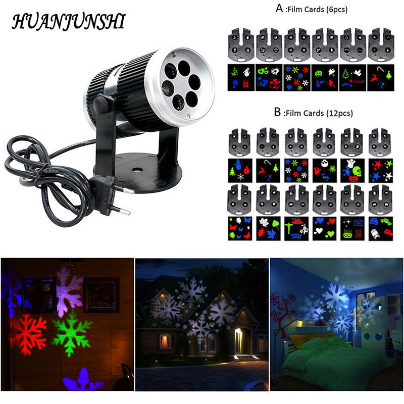 Waterproof Christmas Laser Snowflake Film Projector Lamp Outdoor Indoor LED Stage <font><b>Lights</b></font> Home Garden Holiday Decoration <font><b>Light</b></font>