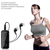 Multipoint Lavalier Mini Clip Bluetooth Headset Stereo Music Wireless Headphone Earphone Clamp Collar Microphone For Cell