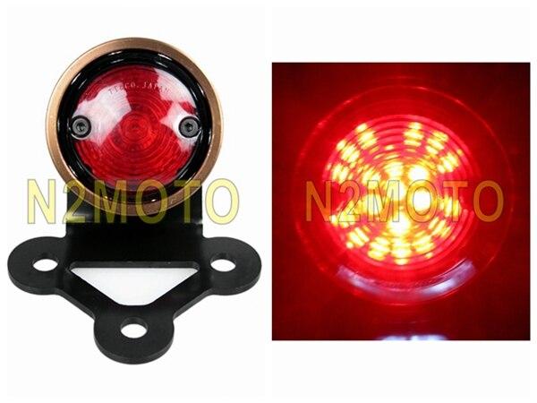 Feu arrière moto plaque d'immatriculation intégrée LED de frein feu arrière éclairage arrière arrière rétro-éclairage