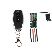QIACHIP 433MHz Micro Wireless Remote Control Switch Long Range Mini Receiver 3.6V 12V 24V and 433 MHz Transmitter Remote Control