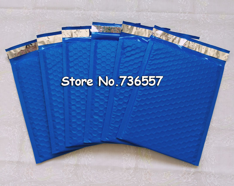 New Style [PB#69+]- Blue 6.5X9inch / 165X229MM Usable Space Poly Bubble Mailer Envelopes Padded Mailing Bag Self Sealing [50pcs]