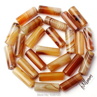 Free Shipping 6x16mm Smooth Natural Mixed Color Agate Column Shape DIY Loose Beads Strand 15 Jewellery