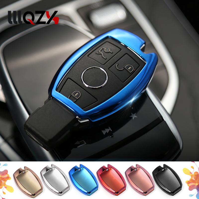 Flip Replacement Car Key Case Cover for Mercedes A B R G Class GLK GLA w204 W251 W463 W176 TPU Shell Material car Accessories image