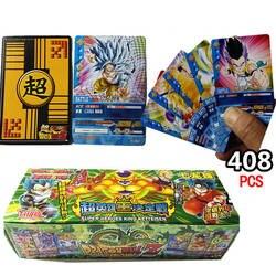 408 шт./лот Dragon Ball Z Супер Saiyan Goku Вегета Фриза коллекционные карточки Dragon Ball Z фигурку карты детский подарок игрушка