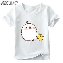T-Shirt Molang Funny Clothes Rabbit Kids Baby-Boys/girls Cartoon And Cute Bunny HKP5217
