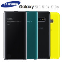 SAMSUNG S10 Case Official Original S View Full Flip Cover Samsung Galaxy S10 Plus S10e Cover Smart View Mirror Clear Pone Case