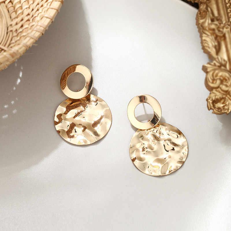 גדול עגול מתכת זרוק עגיל לנשים להתנדנד הצהרת הודי תכשיטי כסף זהב עגילי בוהמי עגילי טמפרמנט