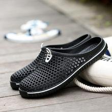 1c358d8c5 2018 Мужская обувь пляжные Повседневное Мужские тапочки унисекс  выдалбливают Повседневное пара пляжные сандалии-слайд мужские