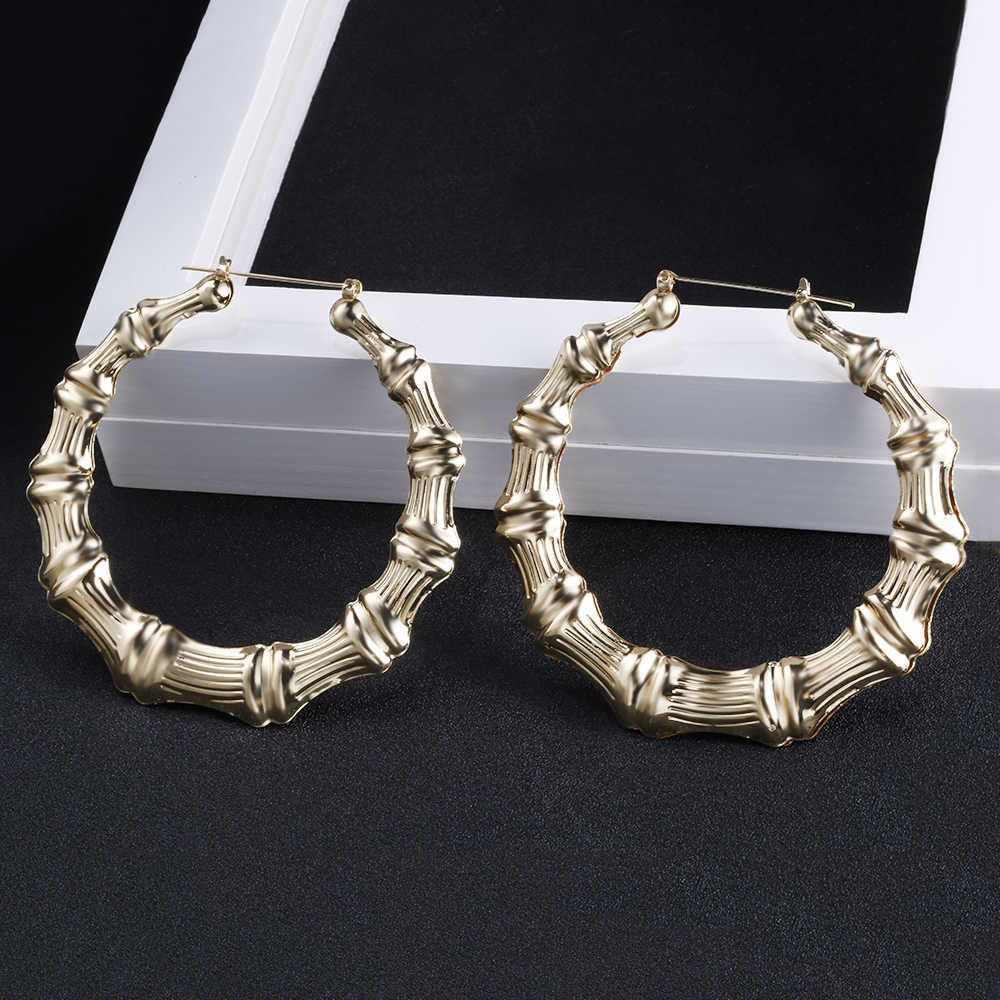791fabed4 ... 2019 Trendy Bamboo Hoop Earrings Women Female Gold Silver Color Color Classic  Jewelry ...