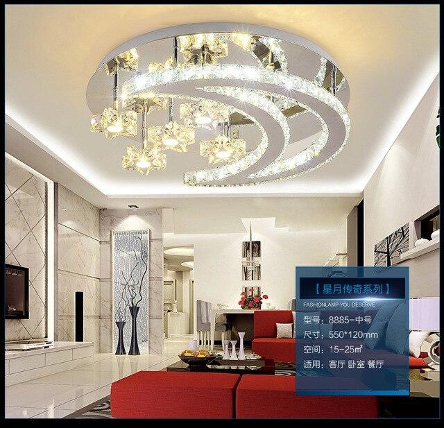 living hall lighting. Luxury LED Living Room Lighting Round Crystal Lamp Ceiling Bedroom Hall Atmosphere Simple Modern Light R