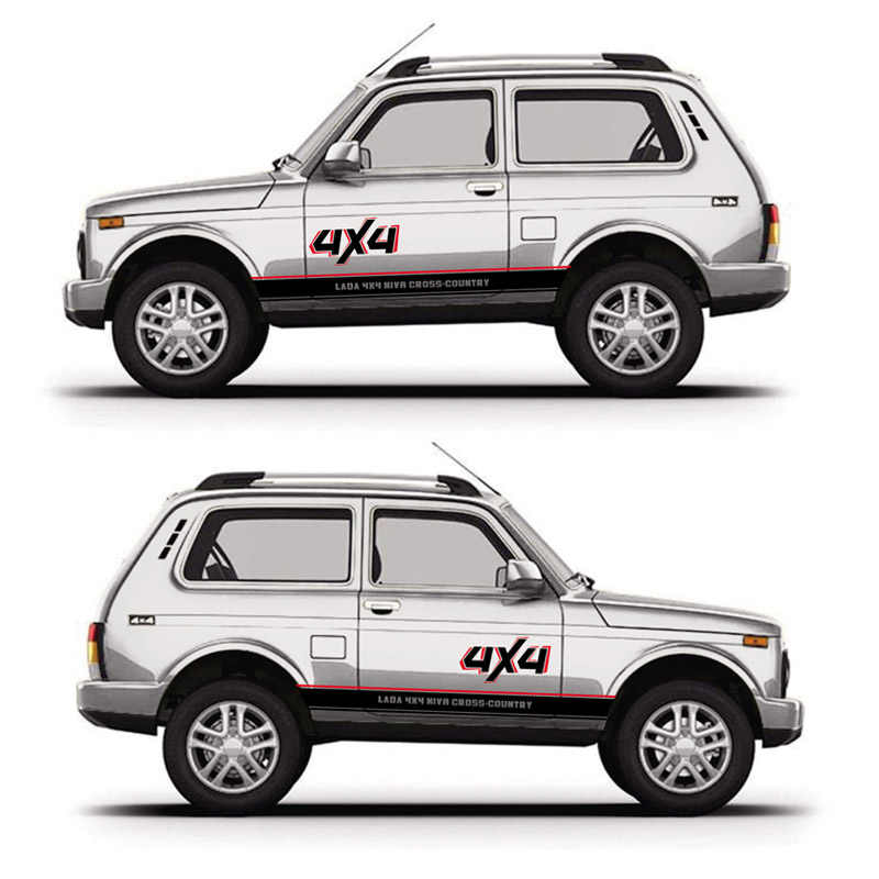 For LADA NIVA 4X4 OFF ROAD Mountain Graphics Decal Car Body