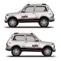 TAIYAO car styling sport car sticker For LADA Niva Urban 4X4 car accessories and decals auto sticker