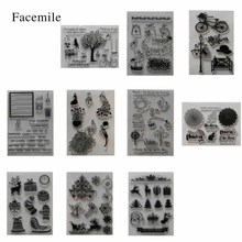 gift 1PCS Different Stamp Design Clear Rubber Stamp For DIY Card Decoration Scrapbooking