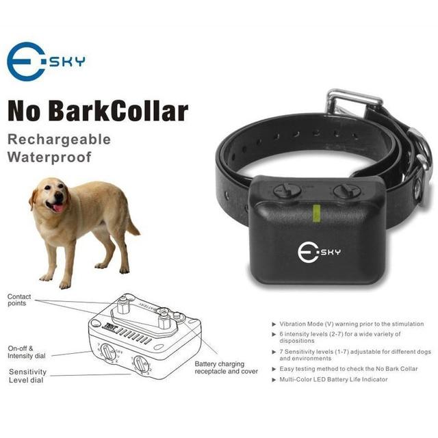 1 UNID Recargable Impermeable Medium Large collar Anti Ladridos No Barking Mascotas Perro Collar de Choque VEJ11 T50