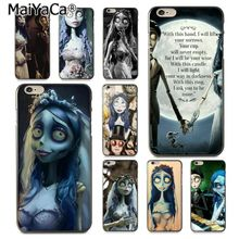 MaiYaCa Anime The Corpse Bride Ultra Thin Cartoon Back Phone Case for iPhone 8 7 6 6S Plus X 10 5 5S SE 5C Coque Shell