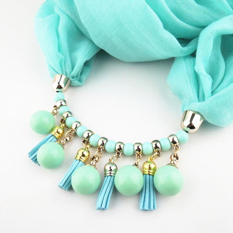 Summer Spring Scarf Necklace Women's Chales y Bufandas Joyas - Accesorios para la ropa - foto 4
