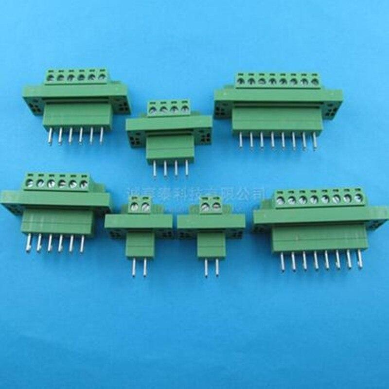 цена на 10pairs Wall terminal 2EDGWB-5.08-2P - 10P, pluggable terminal pluggable terminal block 2P3P4P5P6P7P8P10P