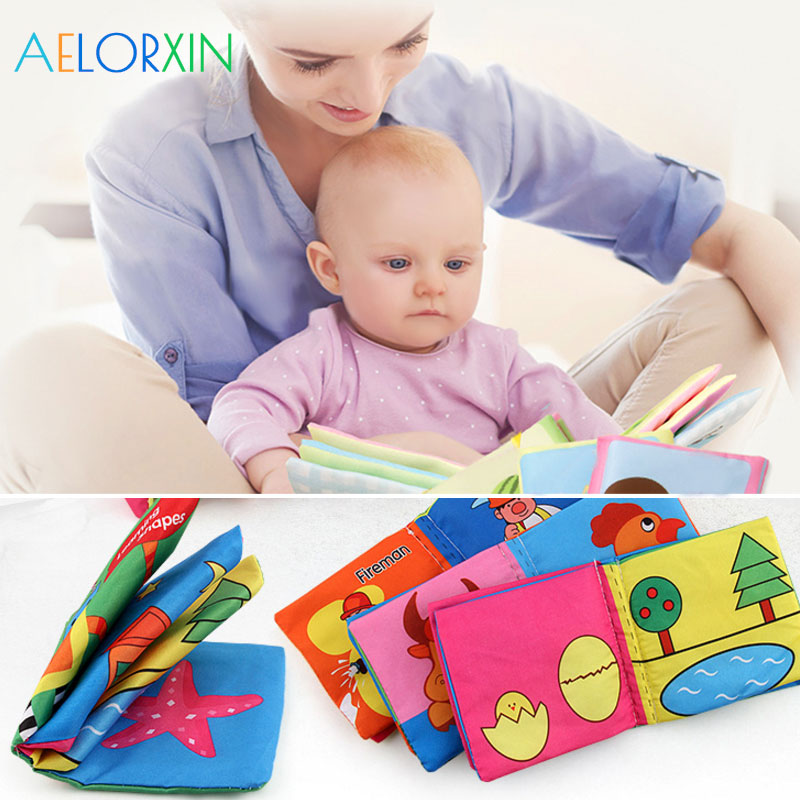 New Infant Educational Cloth Book Letter Pattern Cognitive Baby Toy Learning Infant Book Development  Boys Girls Newborn Animal